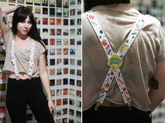 Vintage 1980s / 1990s suspenders / ice by elizamoonbeamvintage, $25.00