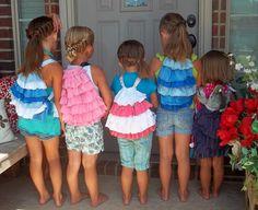 tutorial for a kids-sized ruffle cinch bag.  Love it!