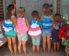 tutorial for a kids-sized ruffle cinch bag.  Presh!