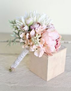 Toss mariée soie rustique Bouquet pays nouveau par braggingbags