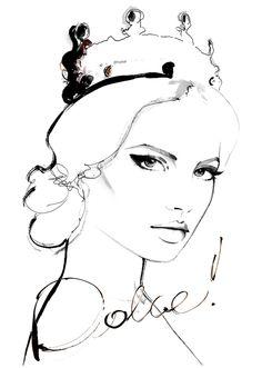 """""""Dolce!"""" inspiration:Magdalena Frąckowiak for Elle Poland September 2013 wearing Dolce & Gabbana crown"""