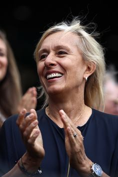 Martina Navratilova enjoying one of the matches with the rest of the audience #wimbledon #tennis