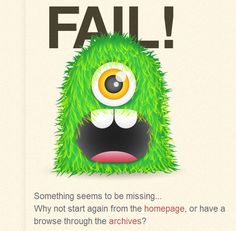 404 page, monster green