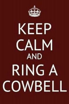 My fellow football moms know....if you're gonna sit with me, you gotta endure the COWBELL!  #cougarpride #boysoffall #footballmom