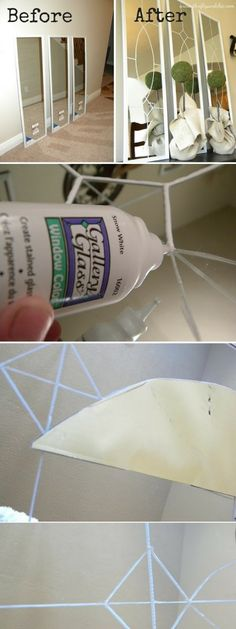 Check out the tutorial: #DIY Decorative Mirror #crafts #decor