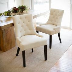 Johnson Tufted Fabric Dining/ Accent Chair (Set of 2) - Walmart.com