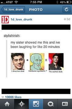 LOL Even though the wanted is gross and disgusting and stupid, this was to funny to pass