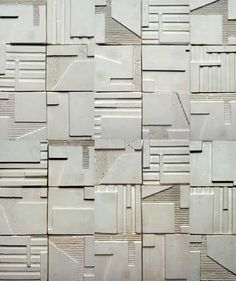 Contemporary architectural friezes, tiles and wall sculptures by artist Kathy Dalwood. Plaster or concrete for interior or exterior. Sculptures Céramiques, Wood Sculpture, Decorative Plaster, Modernisme, Concrete Tiles, Concrete Design, Plaster Walls, Wall Cladding, Handmade Home Decor