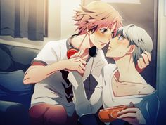 Yu x Yosuke (Persona 4)  (been waiting for this scene the whole game...!!)