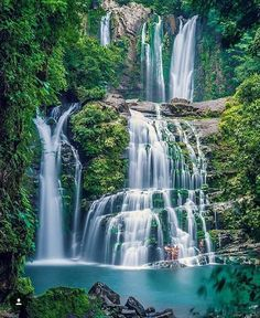 Some of the most beautiful off the beaten path #waterfallls in Costa Rica!  Nauyaca Waterfalls on the way to Playa Dominical via @costarica_natural_paradise! #vacations #crexperts