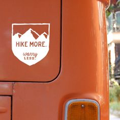 Whether looking for a great gift for a hiker or looking to show off your own supreme outdoorsy prowess, this stylish nature lovers car decal with Hike