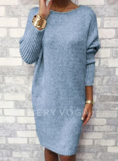 Shopping Casual solid color knit dress online with high-quality and best prices Casual Dresses at Luvyle. Knee Length Dresses, Casual Dresses, Sexy Dresses, Ladies Dresses, Sleeve Dresses, Party Dresses, Summer Dresses, Pulls, Sexy Outfits