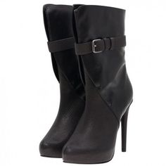 Women's #Fashion #Shoes: Maiyet Elena Platform Black Buckle #Boots