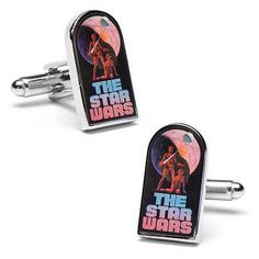 (0x1) Classic The Star Wars Episode 4 Movie Poster Cufflinks @ niftywarehouse.com #NiftyWarehouse #Nerd #Geek #Entertainment #TV #Products