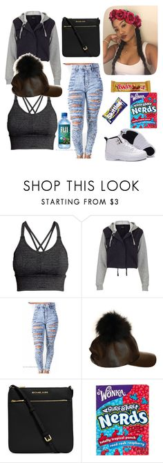 """Sem título #164"" by joyridx ❤ liked on Polyvore featuring H&M, Topshop, Retrò, MICHAEL Michael Kors and River Island"
