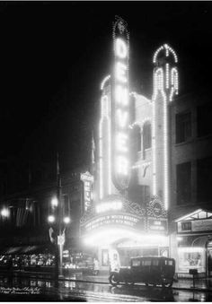 The Denver Theatre opened on November 19, 1927. It was located across the street from the Paramount Theatre. It was operated by Fox West Coast Theatres. The Denver Theatre has since been demolished.