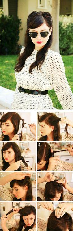 coiffure pin up, les bons gestes à faire