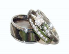 Camo Wedding Rings On Pinterest