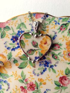 Jewelry made from broken antique china