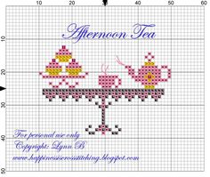 Cakes,+teapot+and+cup+on+a+table+-+pattern.jpg (800×675)