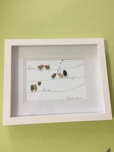 Items similar to Pebble art live laugh love on Etsy Pebble Painting, Pebble Art, Stone Painting, Diy Painting, Glass Art Pictures, Pebble Pictures, Sea Glass Crafts, Sea Glass Art, Stone Crafts