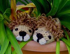 Baby Boy Lion Booties - Crochet Pattern