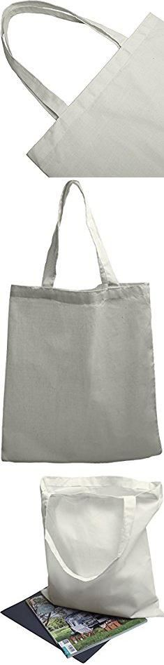 Tote Bags Suppliers. Cotton Blend Tote Bags 12-Pack Reusable For Groceries Shopping Gifts Projects (15 x 16 inch, White).  #tote #bags #suppliers #totebags #bagssuppliers