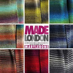#TransitionScarf by @chelacheknits at #MadeLondon . Which #colour would you choose?  #london #xmas #christmas #shopping #marylebone #knitted #fashion #accessories #madeinlondon #madeingb #madeinbritain #scarves #scarf #stripes #color #rainbow #wool #knitting #handmade #allthecolours