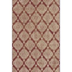 """Dynamic Rugs Melody Terracotta/Ivory Area Rug Rug Size: Runner 2'2"""" x 7'10"""""""