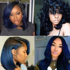 Gorgeous color... Midnight blue Which is your favorite? . #voiceofhair voiceofhair.com