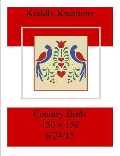 (4) Name: 'Crocheting : Country Birds 150 x 150