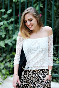 White Lace Off Shoulder Blouse Fashion Beauty, Womens Fashion, New Wardrobe, Dress Me Up, White Lace, Off Shoulder Blouse, Autumn Essentials, Fashion Show, Cute Outfits