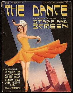 Citation: Volume number 2 of The Dance, magazine of stage and screen, 1930 Dec. John Vassos papers, Archives of American Art, Smithsonia. Radio Advertising, Advertising Poster, Ballet Posters, Art Posters, Travel Posters, Painted Wardrobe, Art Deco, Art Nouveau, Dance Magazine