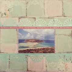 Ballos Beach - Creta - Grécia Madeleine Tiles - Madeleine Collection - Bo Bunny