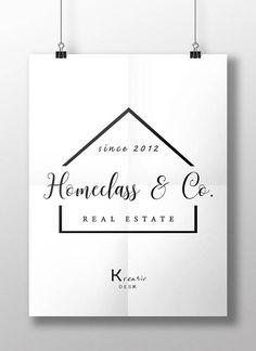 Home Logo. Handmade Home Logo. Home Agent Logo. by KreativDesk on Etsy Photoshop Logo, Photoshop Software, Real Estate Branding, Real Estate Logo, Logan, Change Logo, Property Logo, Logo Design, Cup Design