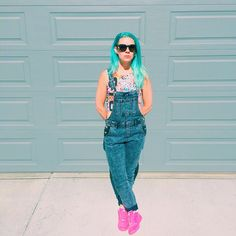 Overalls, Nike Dunks and Stussy Jam Rock crop top