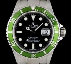 Rolex Submariner Date Gents Stainless Steel Black Dial Green Bezel 16610LV