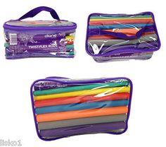 """Diane #DTV1 Flex Perm Rods 42-pack , 6 sizes , 6 colors, 7"""" long rods"""