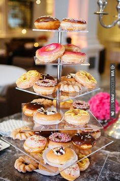 donut cake tower! | CHECK OUT MORE IDEAS AT WEDDINGPINS.NET | #weddingcakes