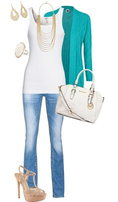 """white, teal, & gold"" by mtoomey on Polyvore"