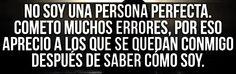 No soy una persona perfecta...