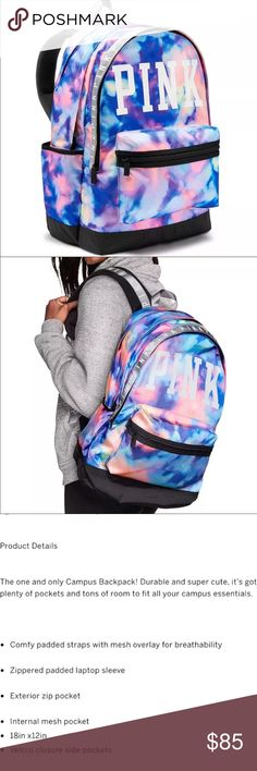 BNIP PINK Victoria's Secret campus backpack Brand new in original package PINK Victoria's Secret Bags Backpacks