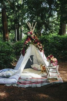 I have spoken before about planning a village hall wedding, barn wedding and marquee wedding on WWW. But tipi weddings are another firm favourite of mine. Outdoor Spaces, Outdoor Living, Outdoor Decor, Outdoor Life, Shabby Chic, Camping Ideas, Camping Glamping, Camping Store, Camping List