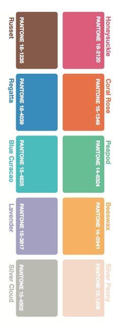 pantone spring fashion colors