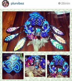 Feather / hippie kandi cuff