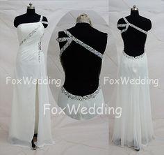 Long White Prom Dresses 2014 Backless White Dress by FoxWedding, $139.00