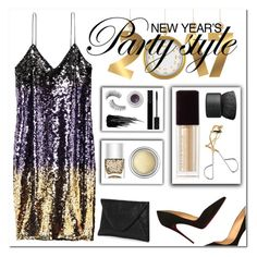 """""""New Years: 2017"""" by sikes-rachel ❤ liked on Polyvore featuring Christian Louboutin, Nails Inc., Christian Dior, Trish McEvoy, Gucci, Urban Decay, Kevyn Aucoin, Smashbox, H&M and NARS Cosmetics"""