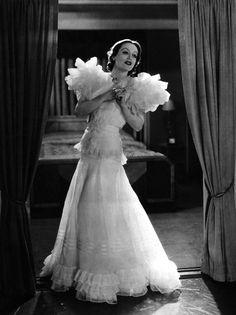 joan crawford movie dresses | Joan in Adrian's legendary Letty Lynton gown.