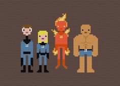 The Fantastic Four - Pixel People