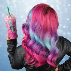 Unicorn Frappuccino hair is the new unicorn hair.